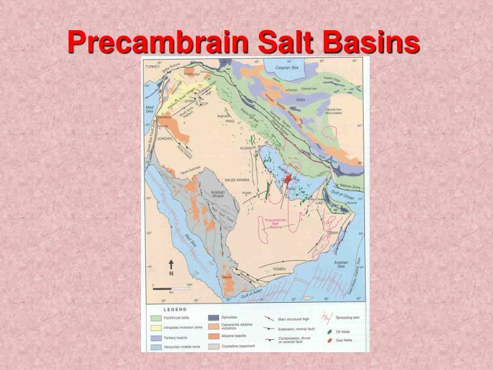Precambrain Salt Basins