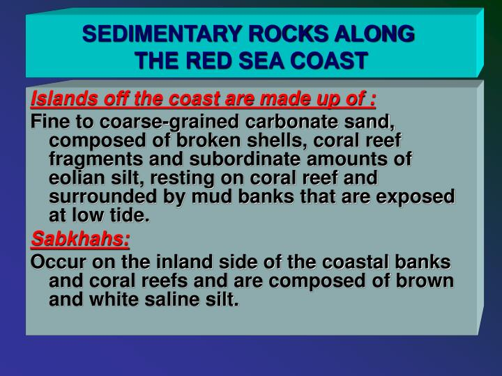 SEDIMENTARY ROCKS ALONG
