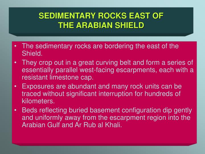 SEDIMENTARY ROCKS EAST OF