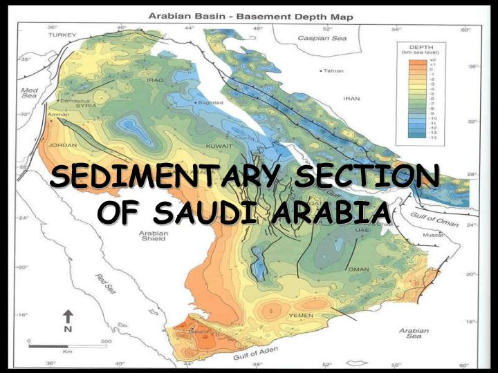 SEDIMENTARY SECTION OF SAUDI ARABIA