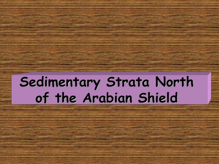 Sedimentary Strata North of the Arabian Shield