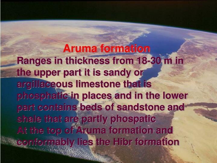 Aruma formation