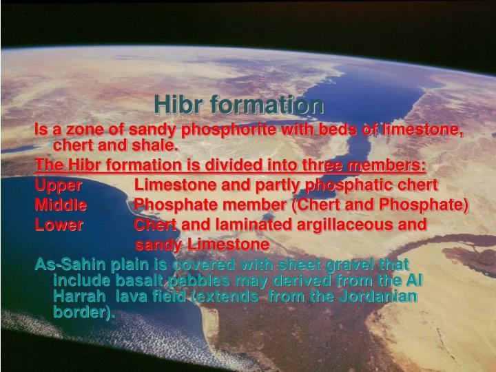 Hibr formation