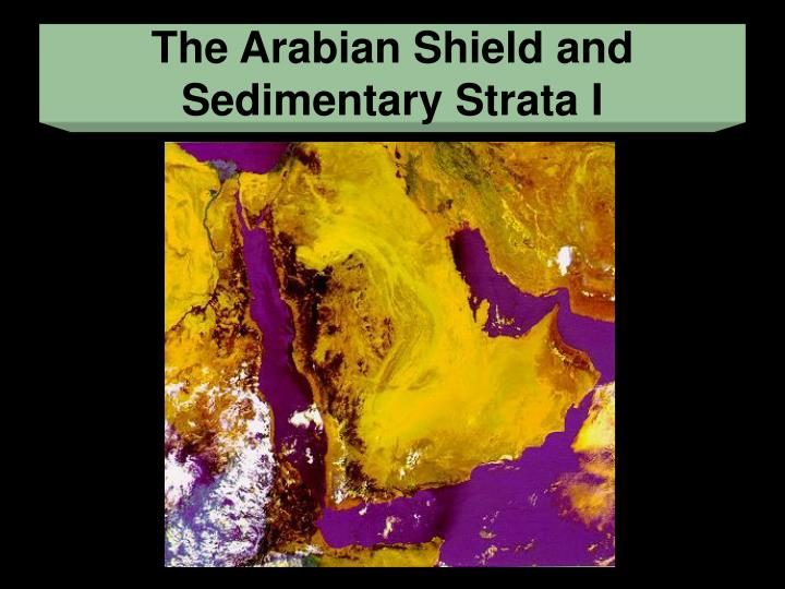 The Arabian Shield and Sedimentary Strata I