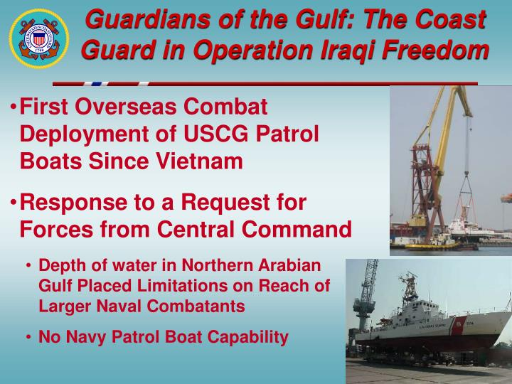 Guardians of the gulf the coast guard in operation iraqi freedom
