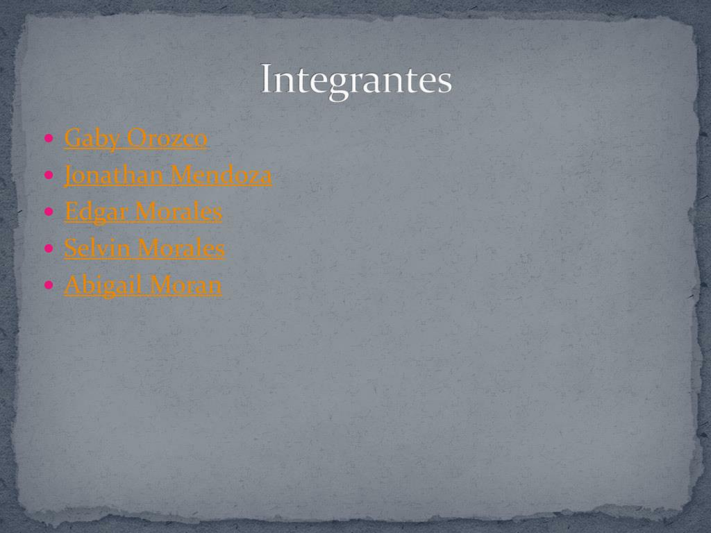Integrantes