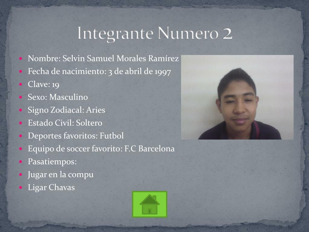 Integrante Numero