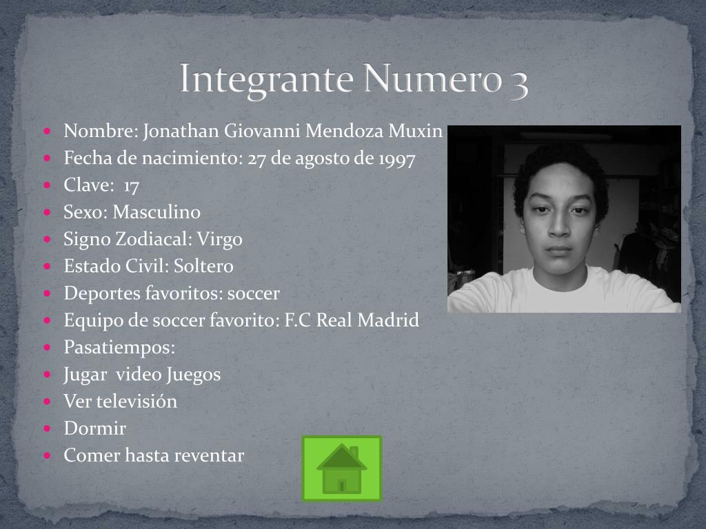 Integrante Numero 3