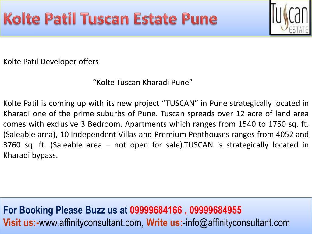 Kolte Patil Tuscan Estate Pune