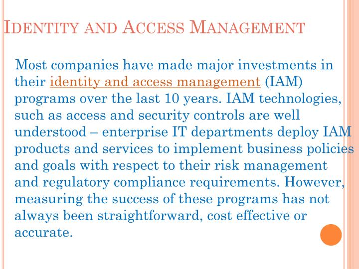Identity and access management l.jpg