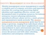 identity management access management