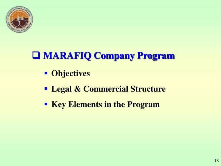 MARAFIQ Company Program