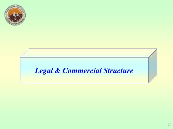 Legal & Commercial Structure