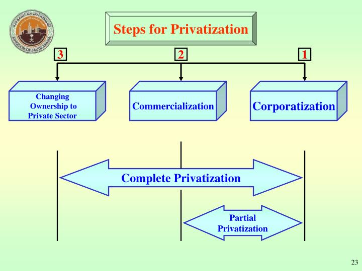 Steps for Privatization