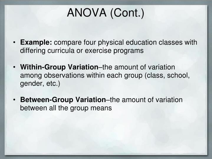 ANOVA (Cont.)
