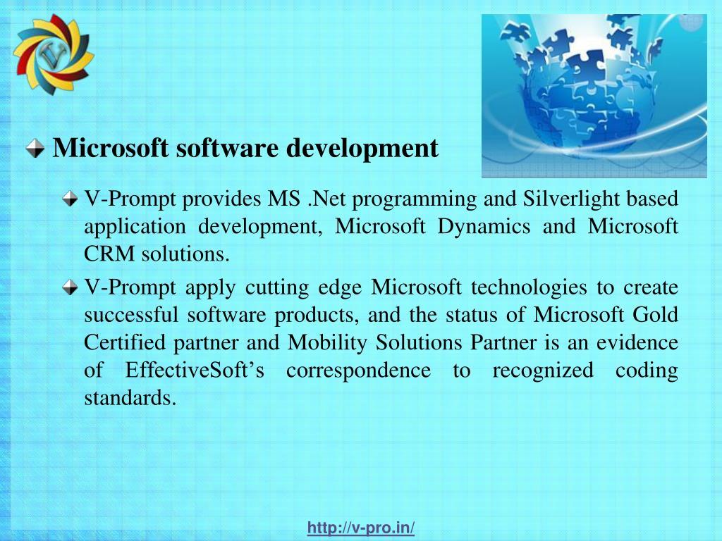 Microsoft software development