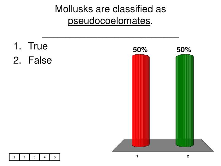 Mollusks are classified as
