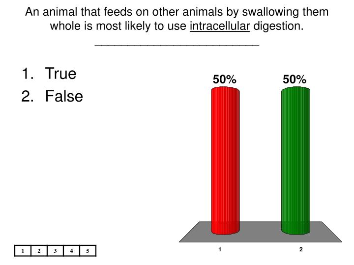 An animal that feeds on other animals by swallowing them whole is most likely to use