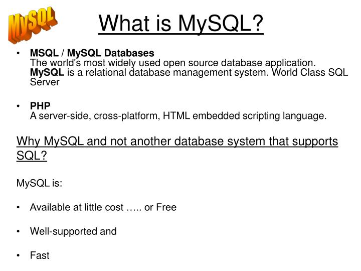 What is mysql