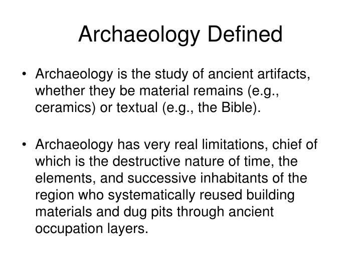 Archaeology defined