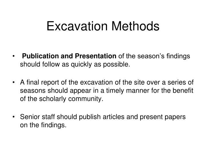 Excavation Methods