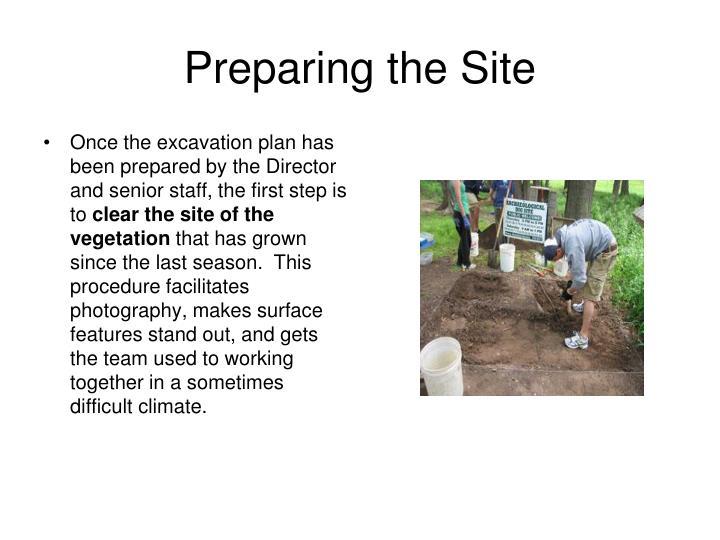 Preparing the Site