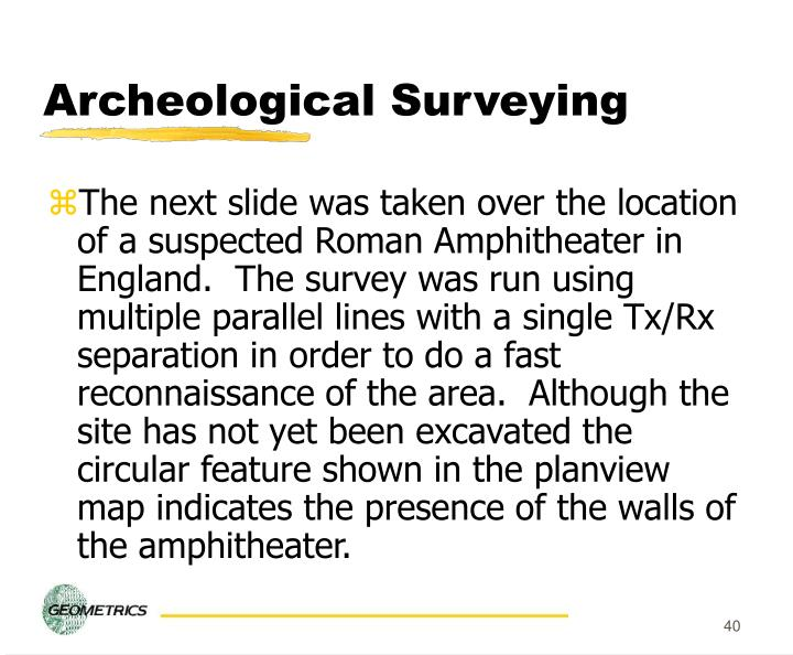 Archeological Surveying