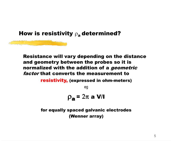 How is resistivity