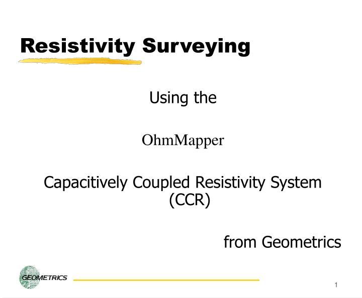 Resistivity surveying