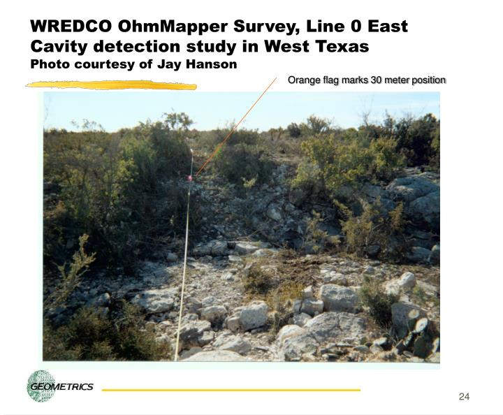 WREDCO OhmMapper Survey, Line 0 East