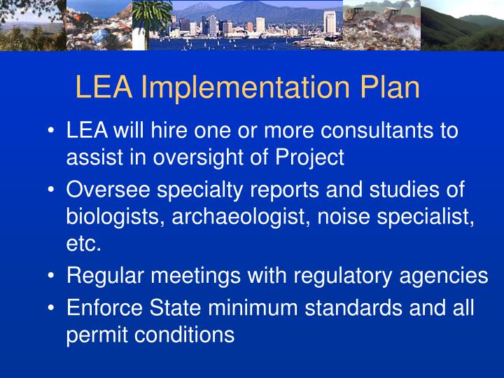 LEA Implementation Plan