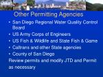 other permitting agencies