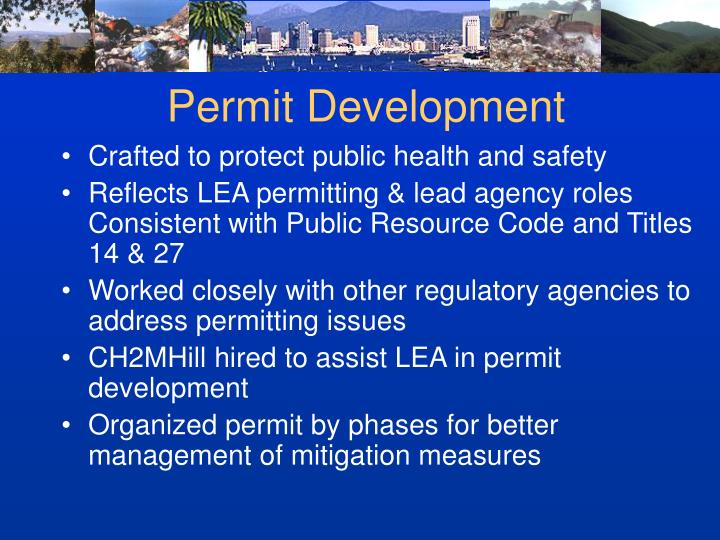 Permit Development