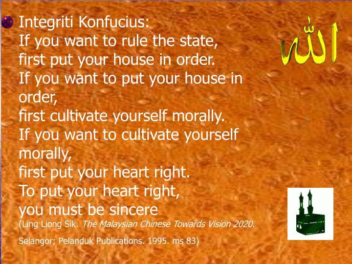 Integriti Konfucius: