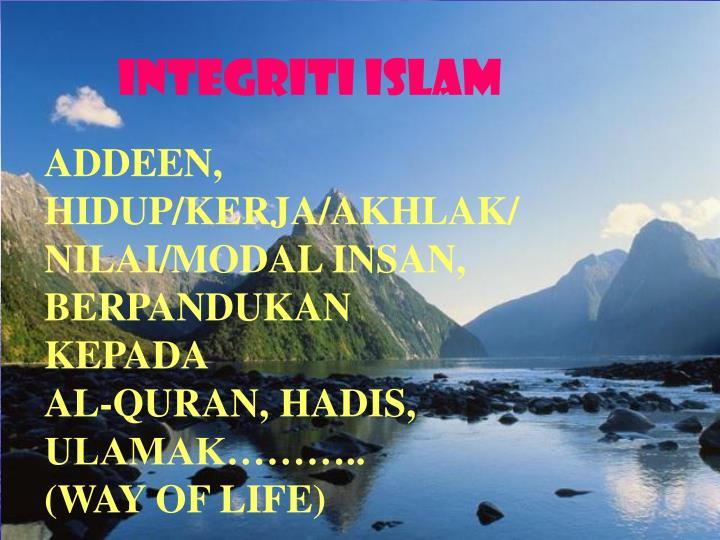 Integriti islam