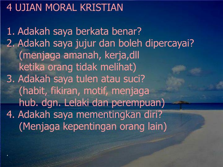 4 UJIAN MORAL KRISTIAN