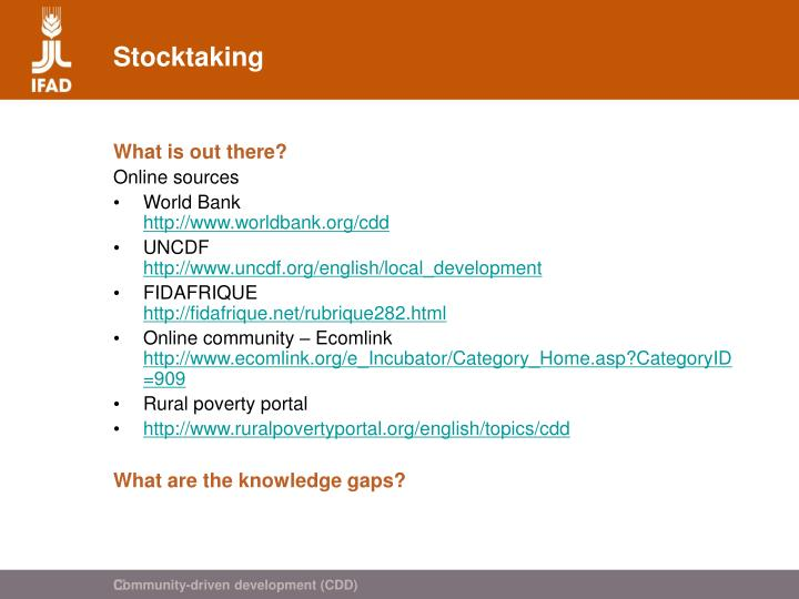 Stocktaking