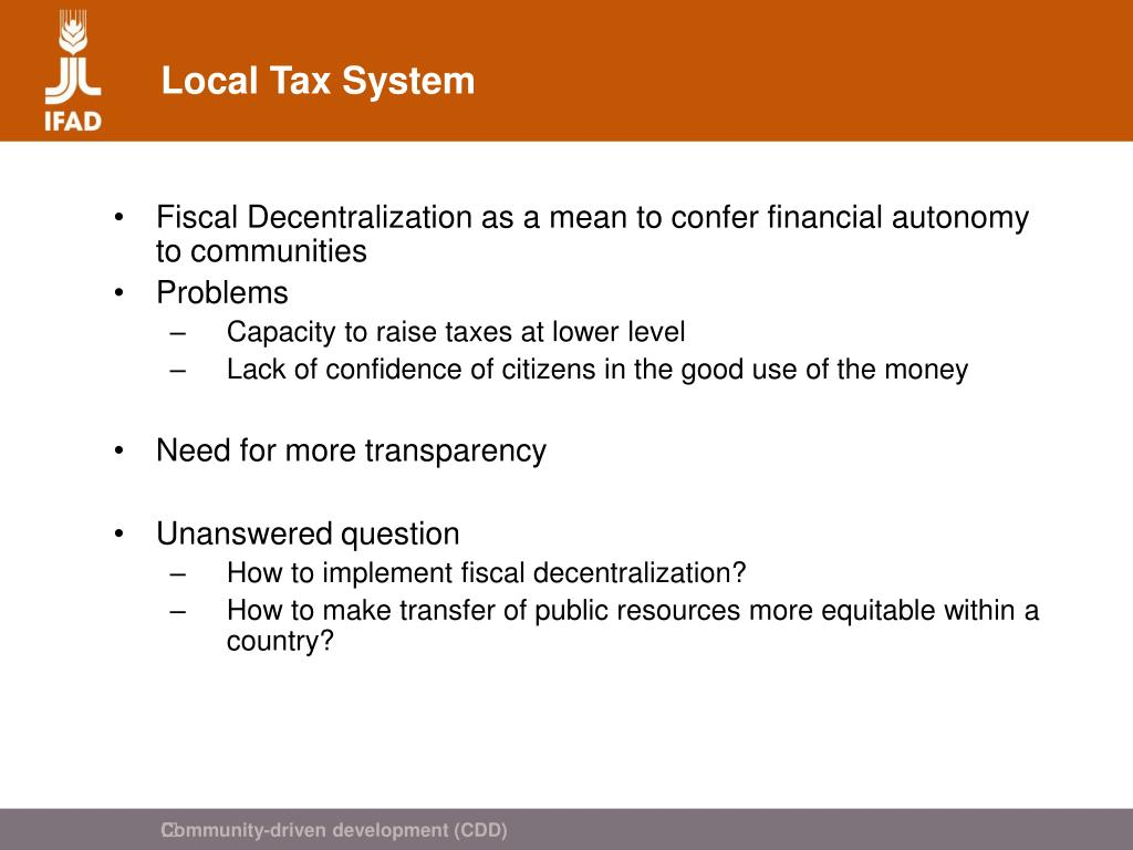 Local Tax System