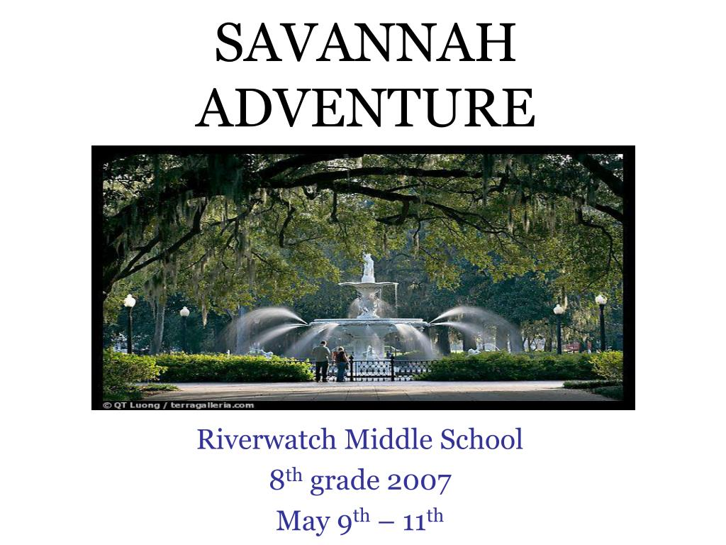 SAVANNAH ADVENTURE