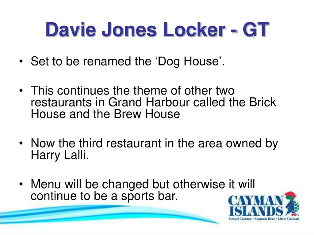 Davie Jones Locker - GT