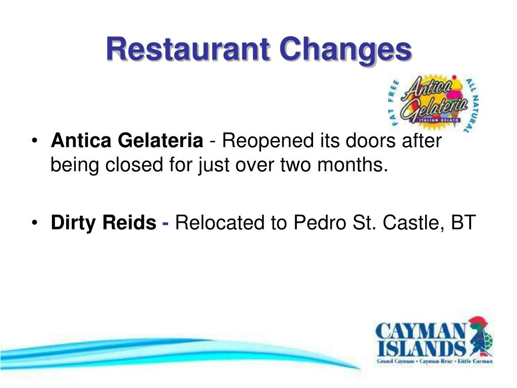 Restaurant Changes
