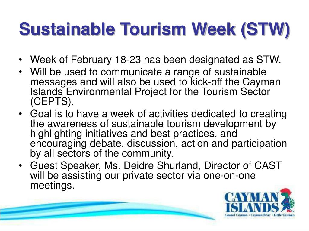 Sustainable Tourism Week (STW)