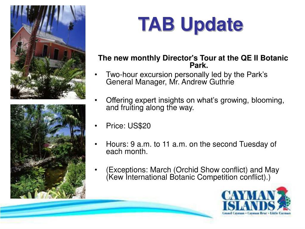 TAB Update