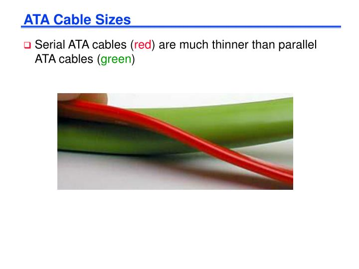 ATA Cable Sizes