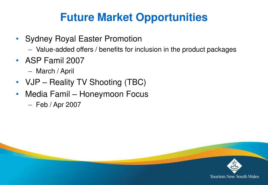 Future Market Opportunities