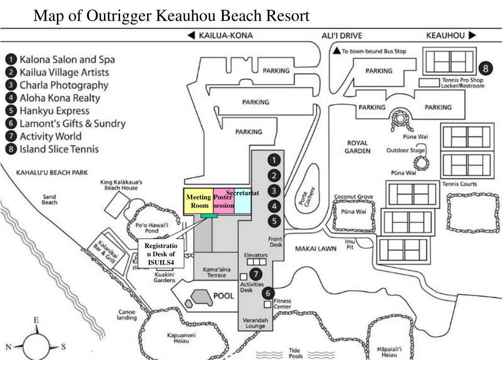 Map of Outrigger Keauhou Beach Resort