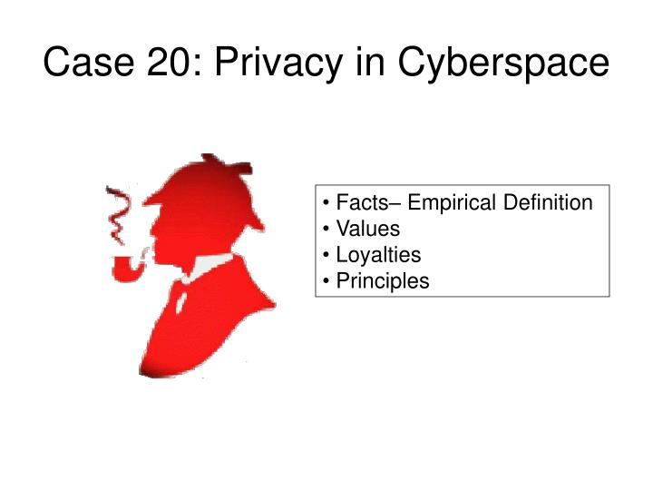 Case 20: Privacy in Cyberspace