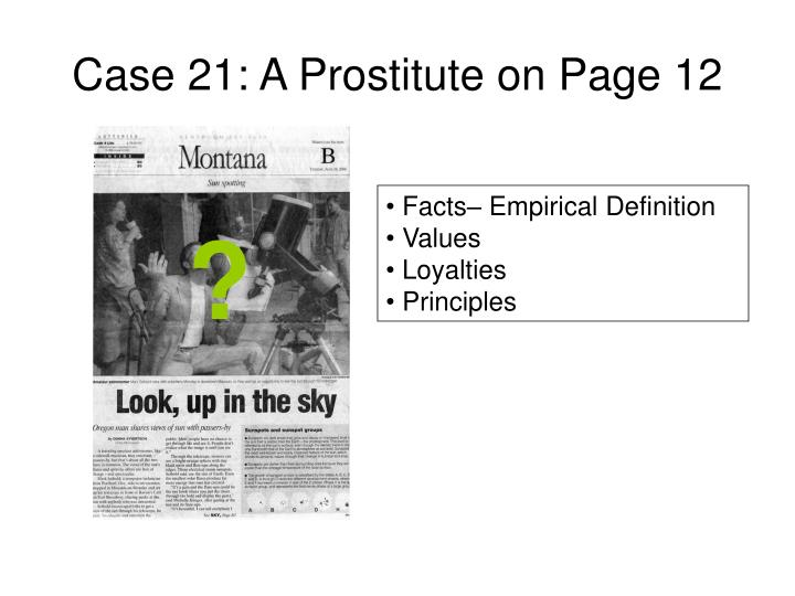 Case 21: A Prostitute on Page 12
