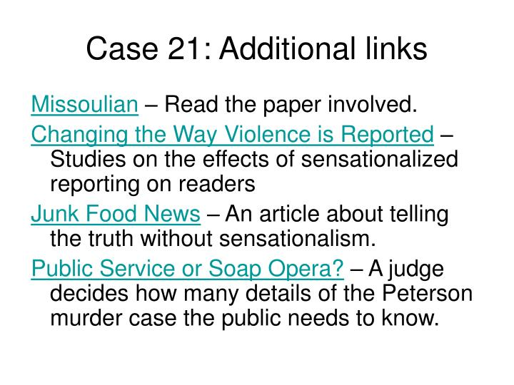 Case 21: Additional links