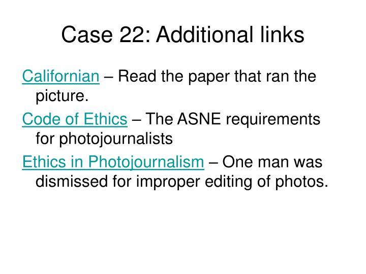 Case 22: Additional links